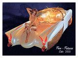 Fem Futura Car 2000 Giclée-tryk af David Perry
