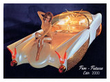 Fem Futura Car 2000 Giclee Print by David Perry