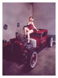 Pin-Up Girl: Rat Rod Giclee Print by David Perry