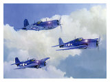Navy Fighters of WWII Giclee Print by Douglas Castleman