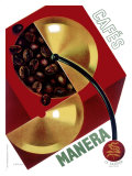 Cafe Manera Coffee Bean Lámina giclée