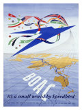British BOAC Airline Giclee Print