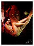 Pin-Up Girl: Carina Winkytiki Giclee Print by Octavio Arizala