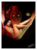 Pin-Up Girl: Carina Winkytiki Giclee Print by Octavio Arizala