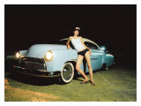 Pin-Up Girl: Chop Top Street Rod Giclee Print by David Perry