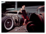 Pin-Up Girl: Chop Top Merc Giclee Print by David Perry