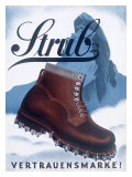 Strub Mountaineering Boot Giclee Print