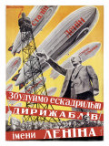Lenin with Dirigibles - Giclee Baskı
