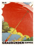 Graubunden Umbrella Giclee Print