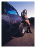 Pin-Up Girl: Hot Rod Giclee Print by David Perry