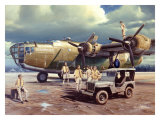 B-24 Consolidated Liberator Bomber Giclee Print by Carlos Garcia
