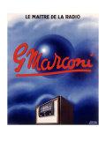 Marconi Tube Radio Set Giclee Print