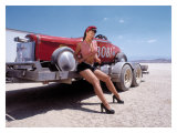 Pin-Up Girl: Salt Flat High Boy Giclee Print by David Perry