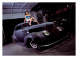 Pin-Up Girl: Street Rod Coupe Giclee Print by David Perry