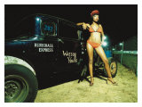 Pin-Up Girl: Bluegrass Rat Rod Giclee Print by David Perry