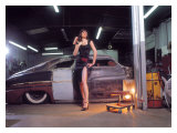 Pin-Up Girl: 1951 Chopped Mercury Giclee Print by David Perry
