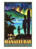 Hanalei Bay North Shore Kauai Gicle-tryk af Rick Sharp