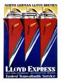 Lloyd Express, Oceanline Ship Giclee Print