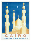 Cairo Egyptian Train Railway Giclee Print