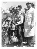 British BSA Racer Wydruk giclee