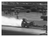 NHRA Top Fuel Rail Dragster Giclee Print by David Perry
