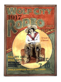 Wolf City Rodeo, 1917 Giclee Print by Sharon Hunt