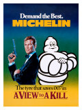 Michelin, Tire James Bond Giclee Print