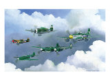 Army Fighters of WWII Giclee Print by Douglas Castleman
