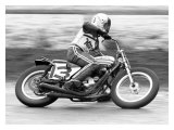 Dave Aldana Norton Flat Track Reproduction procédé giclée par Jerry Smith