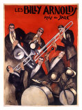 Billy Arnold Jazz Band Music Giclée-tryk af Paul Colin