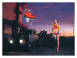 Pin-Up Girl: West House Deuce Giclee Print by David Perry