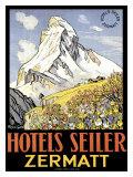 Hotel Seiler Matterhorn Giclee Print by  Gachons