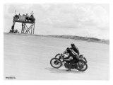 Daytona Beach Motorcycle Racers Giclee Print