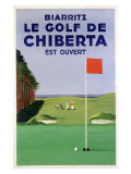 Biarritz Golf Chiberta Reproduction procédé giclée