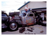 Pin-Up Girl: Truck Rod Giclee Print by David Perry