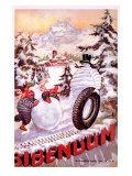 Michelin, Snowman Tire Giclee Print