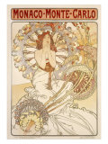 Monte Carlo Giclee Print by Alphonse Mucha