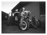 Rock-a-Billy Queen Rat Rod Giclee Print by David Perry