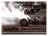 Top Fuel Dragster Burnout Giclee Print by David Perry