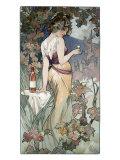 Cognac Template Giclée-tryk af Alphonse Mucha