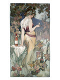 Cognac Template Giclee Print by Alphonse Mucha