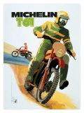 Michelin, T61 Motocross Tire Reproduction procédé giclée