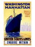 United States, Manhatten Oceanline Giclee Print
