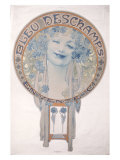 Bleu Deschamps Giclee Print by Alphonse Mucha