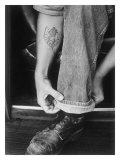 Rock-a-Billy Tattoo Jeans Giclee Print by David Perry