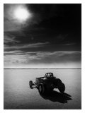 Salt Flat Roadster and Sun Giclee Print by David Perry
