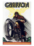 Griffon Motorcycle Reproduction procédé giclée