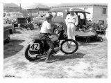 Daytona Beach Triumph Impression giclée