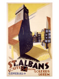 St. Albans Bus Line Giclee Print