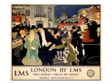 LMS Railway, London Piccadilly Giclee Print